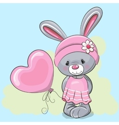Cute Cartoon Rabbit Girl vector image