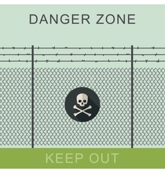 Danger zone and skull sign vector