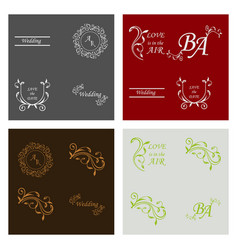 decorative calligraphic elements floral dividers vector image
