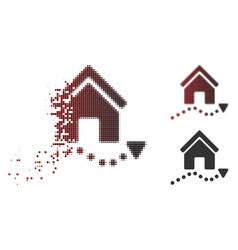 Dispersed dotted halftone realty trend icon vector
