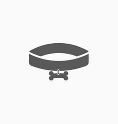 Dog collar icon vector