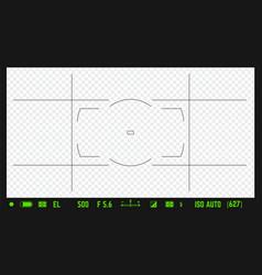 dslr photo camera realistic overlay vector image