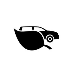 eco car flat icon vector image