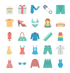 Fashion and Clothes Icons 8 vector image