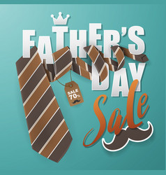 fathers day greeting card background design vector image
