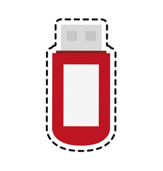 Flash disk icon vector