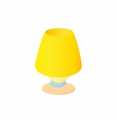 Floor lamp icon cartoon style vector
