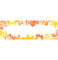frame of autumn leaf imprints vector image