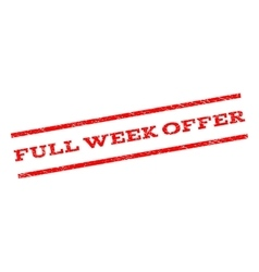 Full week offer watermark stamp vector