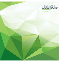 green triangle abstract polygonal background vector image