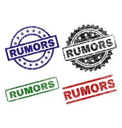 Grunge textured rumors seal stamps vector