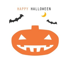 halloween white background vector image