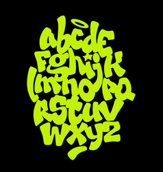 hand lettering graffiti font alphabet vector image
