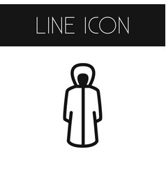 Isolated raincoat outline protection jacket vector