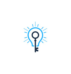 key idea logo icon design vector image
