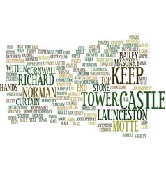 Launceston castle text background word cloud vector