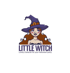 little witch portrait of young attractive witch vector image