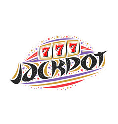 logo for jackpot vector image