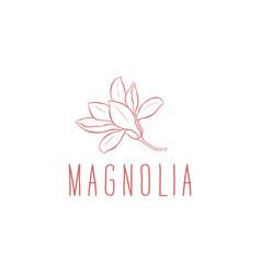Logo magnolia vector