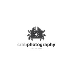 Logo template crab photography vector