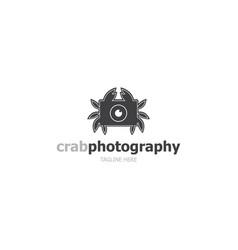 logo template crab photography vector image