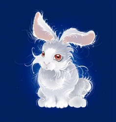 Magic white rabbit vector