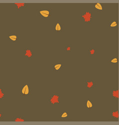 maple and birch leaves pattern seamless color vector image