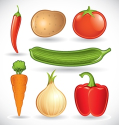 Mixed vegetables - set 1 of 2 vector