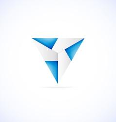 Origami star vector