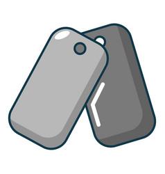 paintball badge icon cartoon style vector image