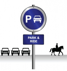 park ride vector image