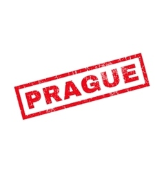 Prague Rubber Stamp vector