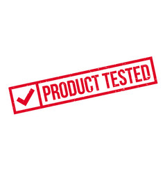 Product tested rubber stamp vector