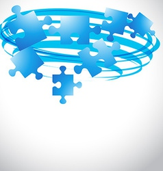 puzzle flying shape vector image