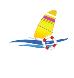 sailboat icon vector image