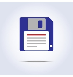Save diskette icon vector