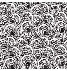 seamless abstract floral monochrome pattern 4 clip vector image