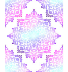 seamless pattern gentle mandalas on white vector image