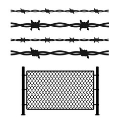 silhouette black metal fence wire mesh vector image