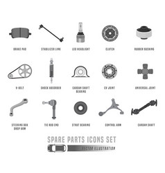 spare parts icons set vector image