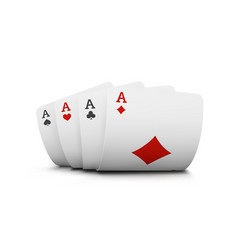 the combination of playing cards poker casino vector image
