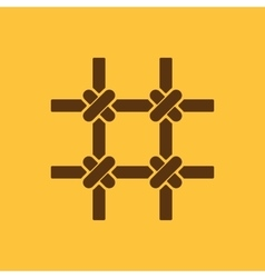 The prison bars icon Grid symbol Flat vector image