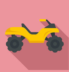 top quad bike icon flat style vector image