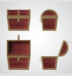 Treasure chest flat vector