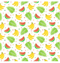 tropical fruits pattern vector image