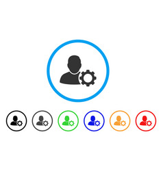 user settings gear rounded icon vector image