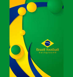 Waves background in Brazilian colors vector image