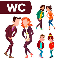 Wc sign door plate design element man vector