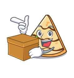 With box crepe character cartoon style vector