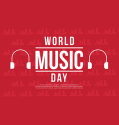 World music day banner style vector